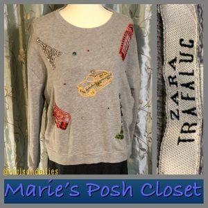 Zara Embellished Sweatshirt
